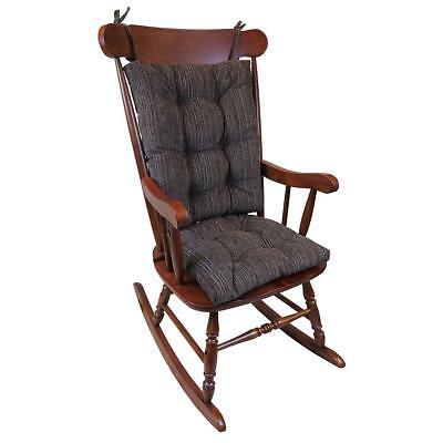 XLarge Universal Rocking Chair Cushion Crushed Chenille NonSkid Woven Brown