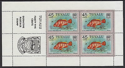 Tuvalu 1981 45 cent Fish Definitive in booklet pane of 4