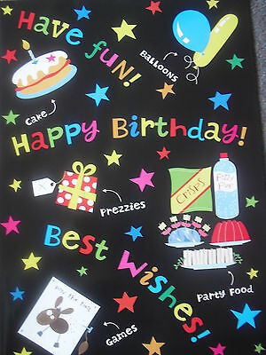 5 Sheets Of Good Quality Children's Birthday Wrapping Paper