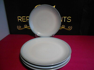 """4 X Denby Intro Light Blue Side Tea Plates 8.25"""" New 2 Sets Available"""