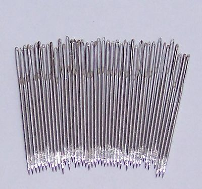 10 x Size 18 CHENILLE Needles Nickel Plated - Large eye and Very Sharp