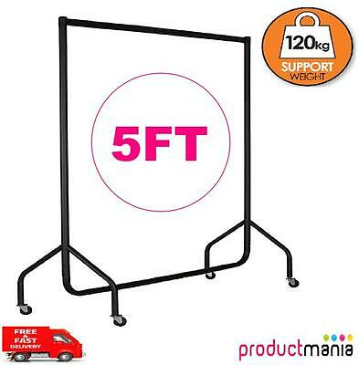 Heavy Duty Rail 120Kg 5Ft Clothes Dress Garment Hanging Display Stand Rack