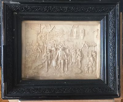 Carved 18th/19th Century Scene In An Antique Frame