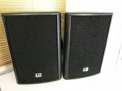 2x LD systems Stinger 12 active speakers.  with covers and built in amplifiers.