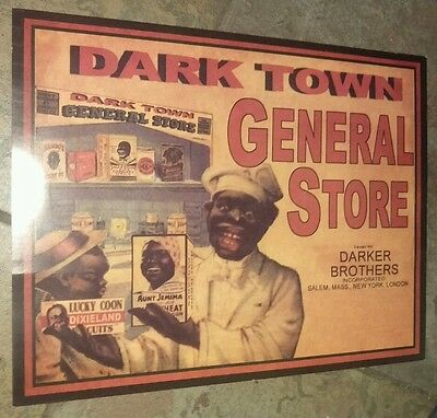 BLACK AMERICANA ADVERTISING GENERAL STORE GROCERY STORE DISPLAY SIGN 11x14