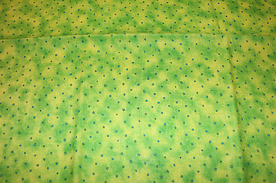 PUL Green with dots 100% Cotton fabric nappy cut for nappies & wetbags 55x50 cm
