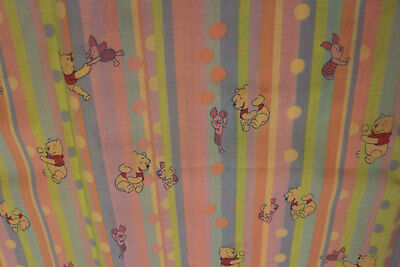 PUL Winnie the Pooh & Piglet pastel stripes for nappies & wetbags 112cm x 1m+