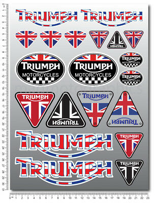Motorcycle sticker set 20 decals daytona 675 street speed triple tiger sprint