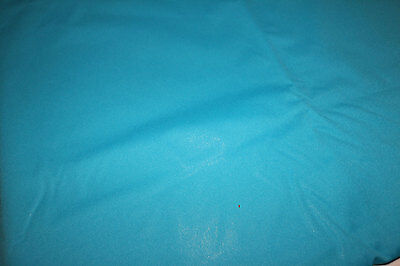 PUL Aqua blue polyester stretch knit fabric for nappies & wetbags 113x105cm