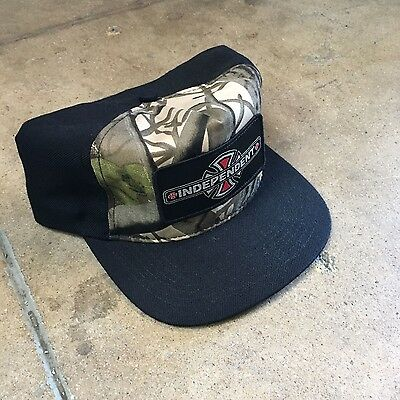 Independent Trucks Reynolds Camo Mesh Trucker Hat Punk Skate Thrasher Santa Cruz