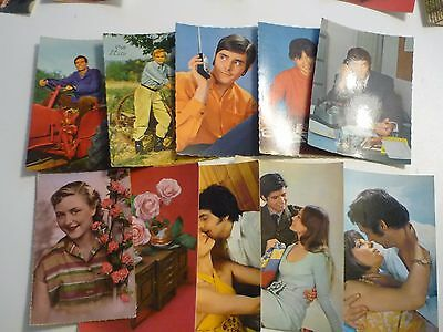 French Vintage Valentine Cards - photos From 1960's Made in France unused