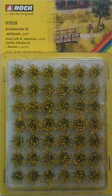 NOCH 07026 Blooming Yellow Grass Tufts XL (42) 12mm 00/H0 Model Railway