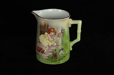 Royal Bayreuth Little Miss Muffet Nursery Rhyme Porcelain Portrait Pitcher