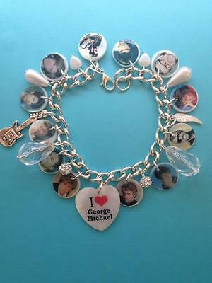George Michael Memorial new Photo charm bracelet. special memory rare gift