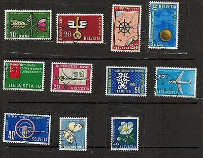 Small Lot of Switzerland stamps C$8.00