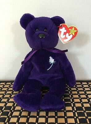 Ty Beanie Baby Princess Diana made in Indonesia PVC Pellets (No Space) Rare !!