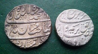 Rupee Farrukhsiyar(1713-1719) & Mohammad Shah Alam Rupee Two Silver Coins