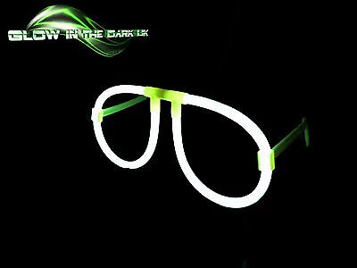 5 x Glow in the Dark Glasses - Glow Stick Bright Neon Glasses Parties Festivals