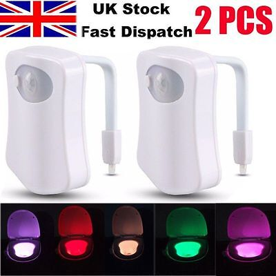 Activated LED Night Light Toilet Seat Lighting Lamp 8 Colors Magic Sensor Motion