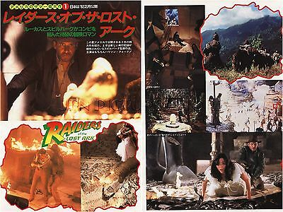HARRISON FORD Raiders of the Lost Ark 1981 JPN PICTURE CLIPPINGS 2-Sheets #UB/N