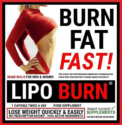 Lipo Burn Weight Loss Slimming Tablets Fat Burners Very Strongest Diet Pills
