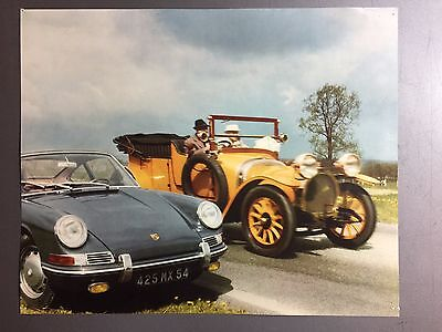 1966 Porsche 911 / 912 Coupe Showroom Advertising Poster RARE!! Awesome VG
