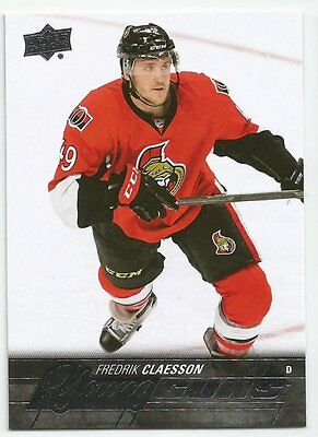 2015-16 SP Authentic Fredrik Claesson Update Young Guns Rookie Card # 527