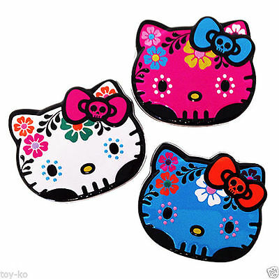 Set/3 Sanrio Hello Kitty Sweet Collection Skull Tattoo CANDY in Collectible Tins