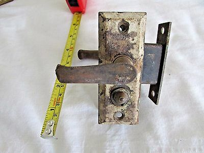 "Antique Door Lever Handle set Backplates Escutcheon Vintage knob 3 3/4"" smaller"