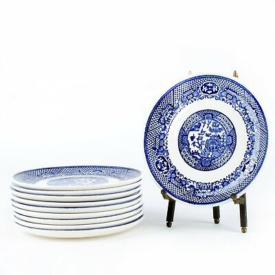 """Lot of 10 Blue Willow Saucers Plates Blue & White 6"""""""