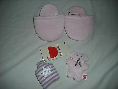 BNWT Chad valley design a bear bedtime set hot water bottle teddy slippers