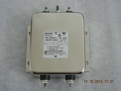 CORCOM Power Line EMI/RFI Filter, 20VW6, NEW