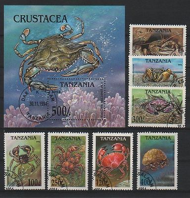 Stamps Tanzania Crab colections