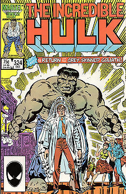 INCREDIBLE HULK #324 1st Appearance of GREY HULK  VF/NM Marvel  RARE KEY ISSUE
