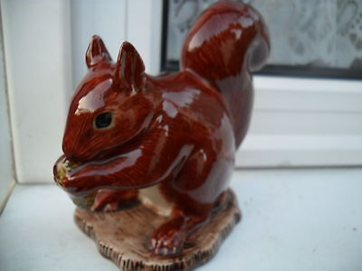 Unusual Ceramic Squirell  Figurine   By Quail  Pottery  Ideal Gift Special Offer