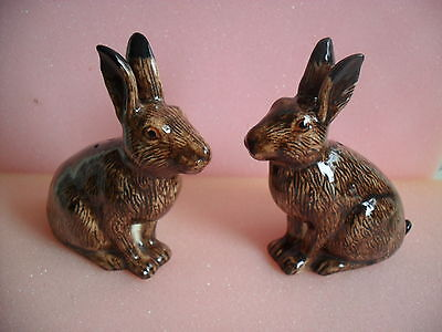 Quail Pottery Hare Ceramic  Salt And Pepper Pots Boxed Ideal Gift