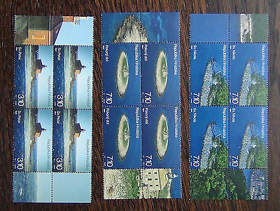 Croatia 2012 Lighthouses set in Blocks x 4 MNH