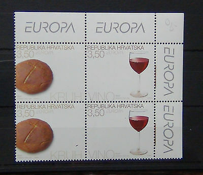 Croatia 2005 Europa Gastronomy set in Blocks x 4 (2 sets) MNH