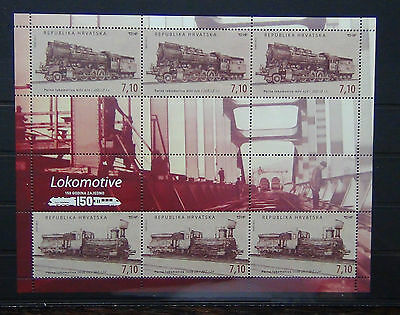 Croatia 2012 Arrival First Train to Zagreb Miniature Sheet MNH Locomotive