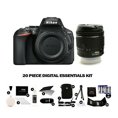 Nikon D5600 Kit with AF-P DX 18-55mm f/3.5-5.6G VR Lens - Next Day UK Delivery