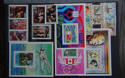 Upper Volta 1977 Nobel set & M/S 1977 Reubens set 1978 World Cup M/S + others U