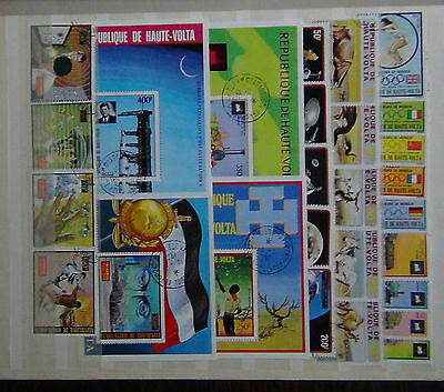 Upper Volta 1972 Animals 1973 Space Interpol set Trains Scouts  Kennedy M/S FU