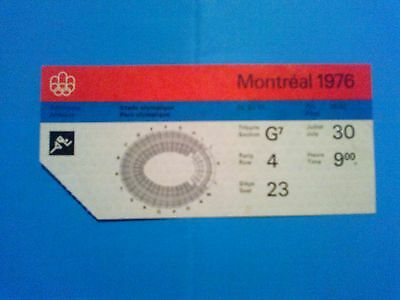 Ticket Olympic Games MONTREAL 30.07.1976 - ATHLETICS
