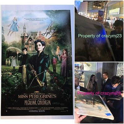 Asa Butterfield Signed Miss Peregrine Enders Game Hugo Exact Proof Autograph