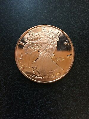 1oz Copper Walking Liberty .999 Round *New*