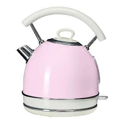 NEW! Retro Kitchen Cordless Electric Kettle Pastel Pink Cottage Aid Traditional