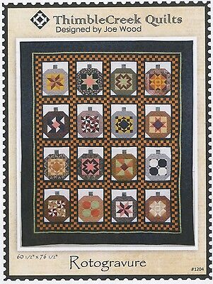 ROTOGRAVURE QUILT QUILTING PATTERN, from Thimble Creek Quilts, *NEW*