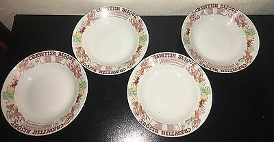 Vintage Set 4 LJUNGBERG Collection CRAWFISH BISQUE Bowls NEW ORLEANS LA Japan