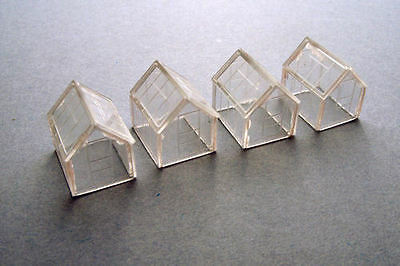 Kestrel Designs 'Greenhouses x 4' 'N' Gauge Plastic Model Kit - Model Railway