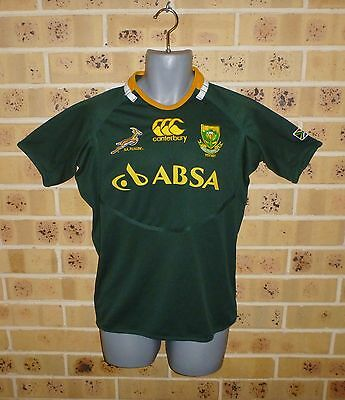 New S / M MENS SOUTH AFRICA SPRINGBOKS RUGBY Rugby Union Jersey Ex Shop Stock